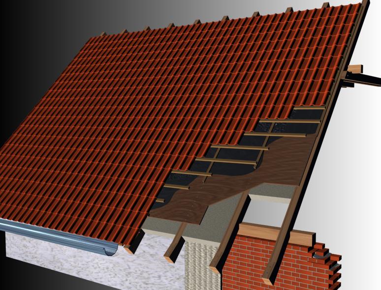 Односкатной крыши из профнастила